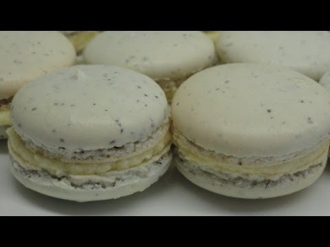 Earl Grey Tea Macarons with Honey Buttercream Filling