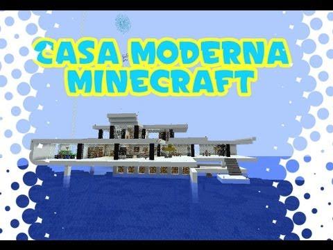 Minecraft casa moderna en el mar modern house descarga for Casas modernas minecraft keralis