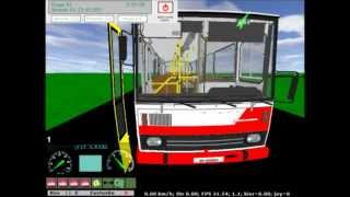 virtual bus Karosa B741 mapa Iksowce linka 2 Zajezdnia Iksowce-Wronki