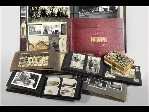 preserving old photo albums video youtube. Black Bedroom Furniture Sets. Home Design Ideas