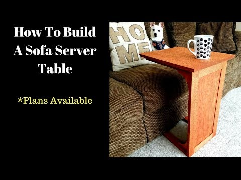 How To Build A Sofa Server Table / Sofa Tray Table