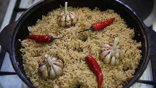Узбекский плов из риса Лазер.