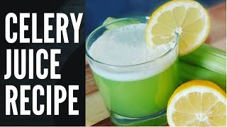 HOW TO MAKE THE WORLD BEST CELERY JUICE  RECIPE BY  Chef Ricardo Cooking