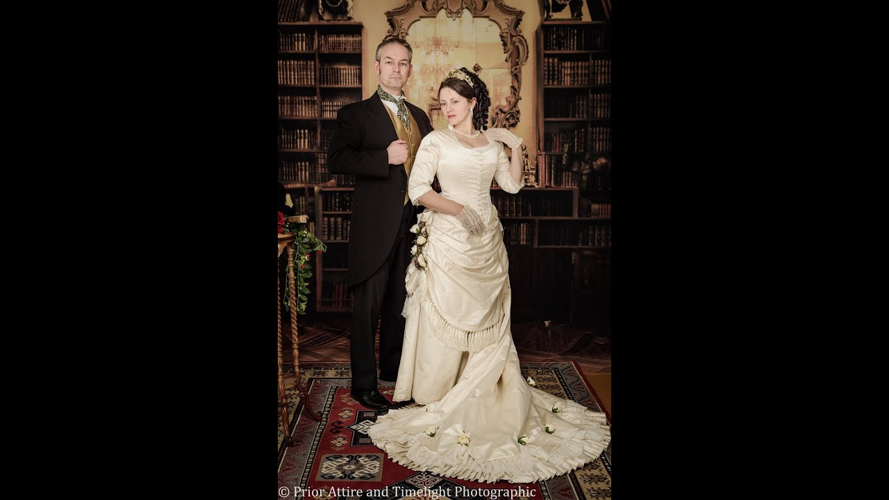 Dressing Up A Victorian Bride Youtube