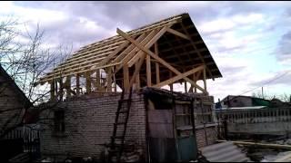 строительство мансарды видео