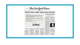 'Trump fires Comey amid Russia inquiry'