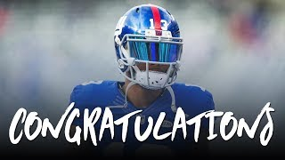odell beckham jr congratulations ft post malone 2017 giants highlights ᴴᴰ