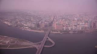 NORTH KOREA   PYONGYANG FROM THE AIR