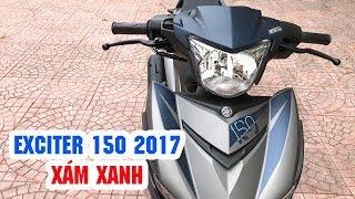 Exciter 150 Xám Xanh 2017 MAT BLUE ▶ Cận cảnh Chiến binh mới của Yamaha!