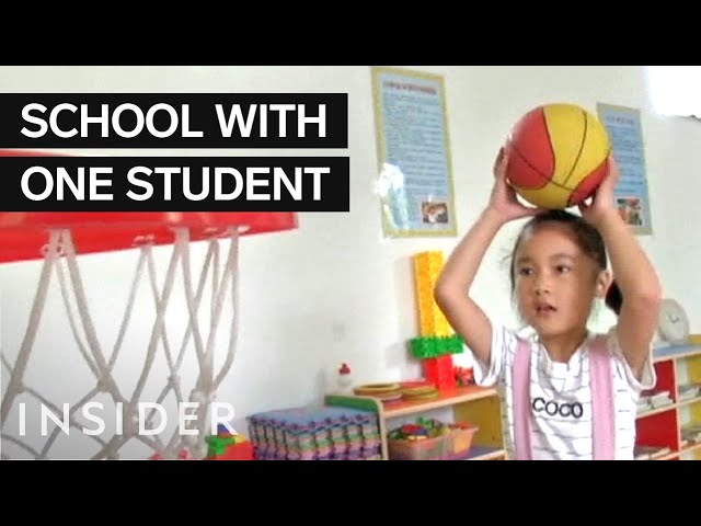 There's a school in China with only one student