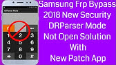 Samsung Bypass Frp 2018 drparser mode not working Solution - YouTube