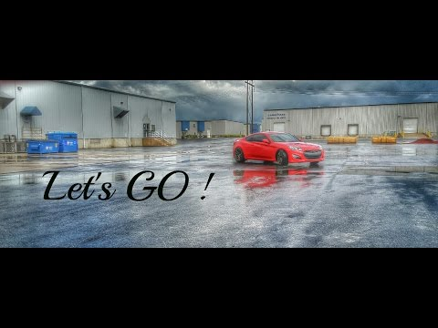 FINALLY!! Drifting the Genesis Coupe 3.8  !!! on HANKOOK ventus V12 EVO2