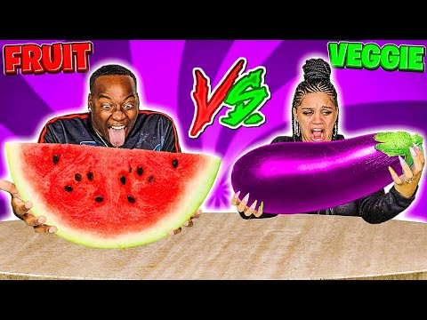 FRUIT VS VEGETABLE FOOD CHALLENGE �