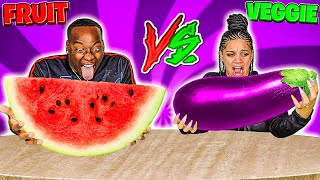 FRUIT VS VEGETABLE FOOD CHALLENGE 🍆