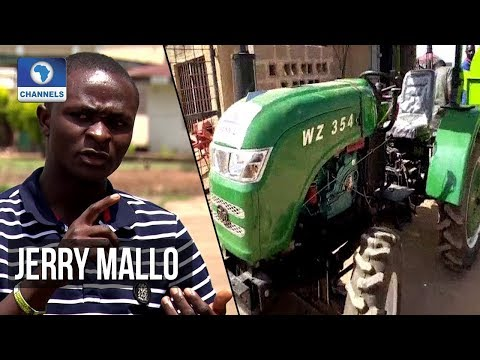 Meet Jerry Mallo, 24-Year-Old Nigerian Who Builds Tractors