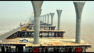 Как китайцы строят самые длинные морские мосты