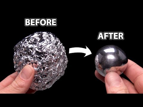 DIY Mirror Polishing Aluminum Foil Ball - Japanese Foil Ball Challenge