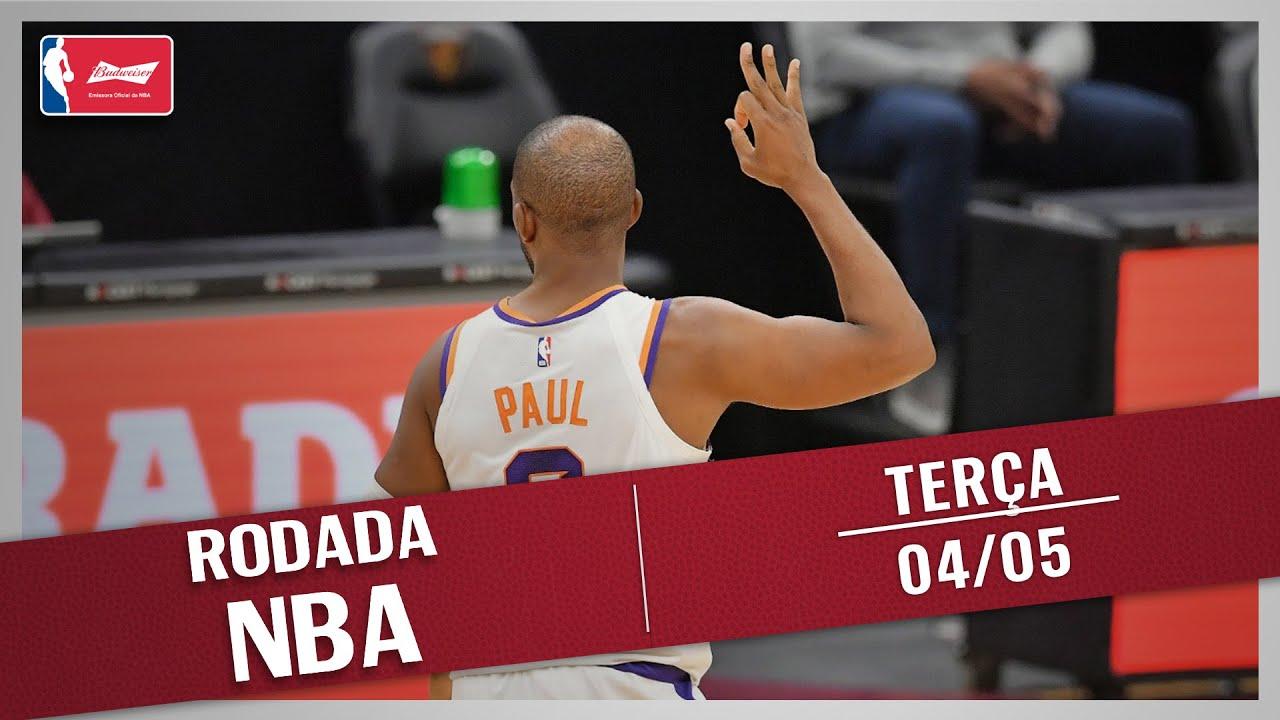 RODADA NBA 04/05 - SHOW DO PHOENIX SUNS, NETS X BUCKS, TOP 10 E MAIS!