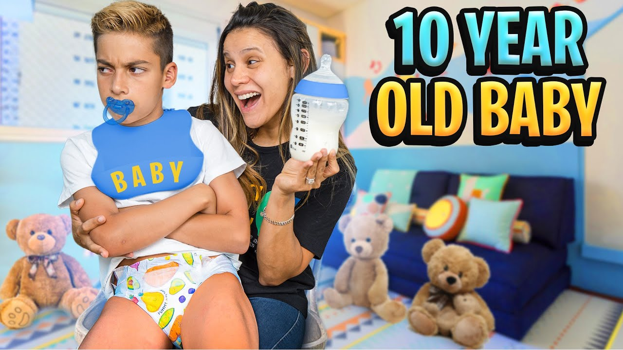 TREATING our 10 Year old SON like a BABY To See His Reaction! 😂 | The Royalty Family