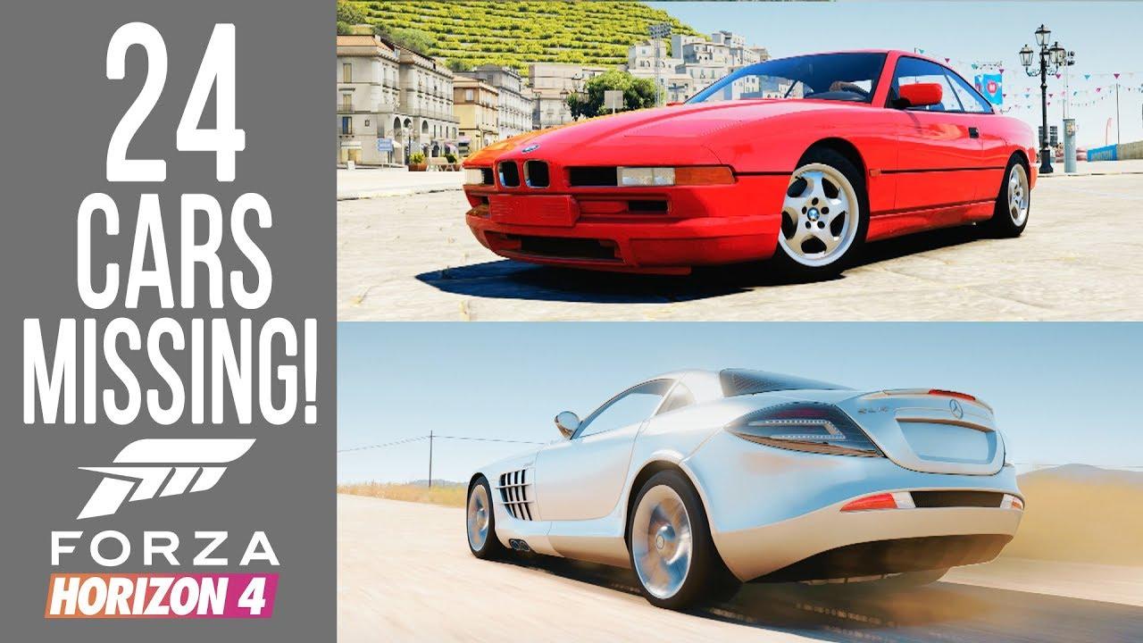Forza Horizon 4 - ALL 24 Cars Missing Since Forza Horizon 2!