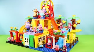 Peppa Pig Building Blocks Lego House Toys - Lego Duplo House Creations Toys For Kids