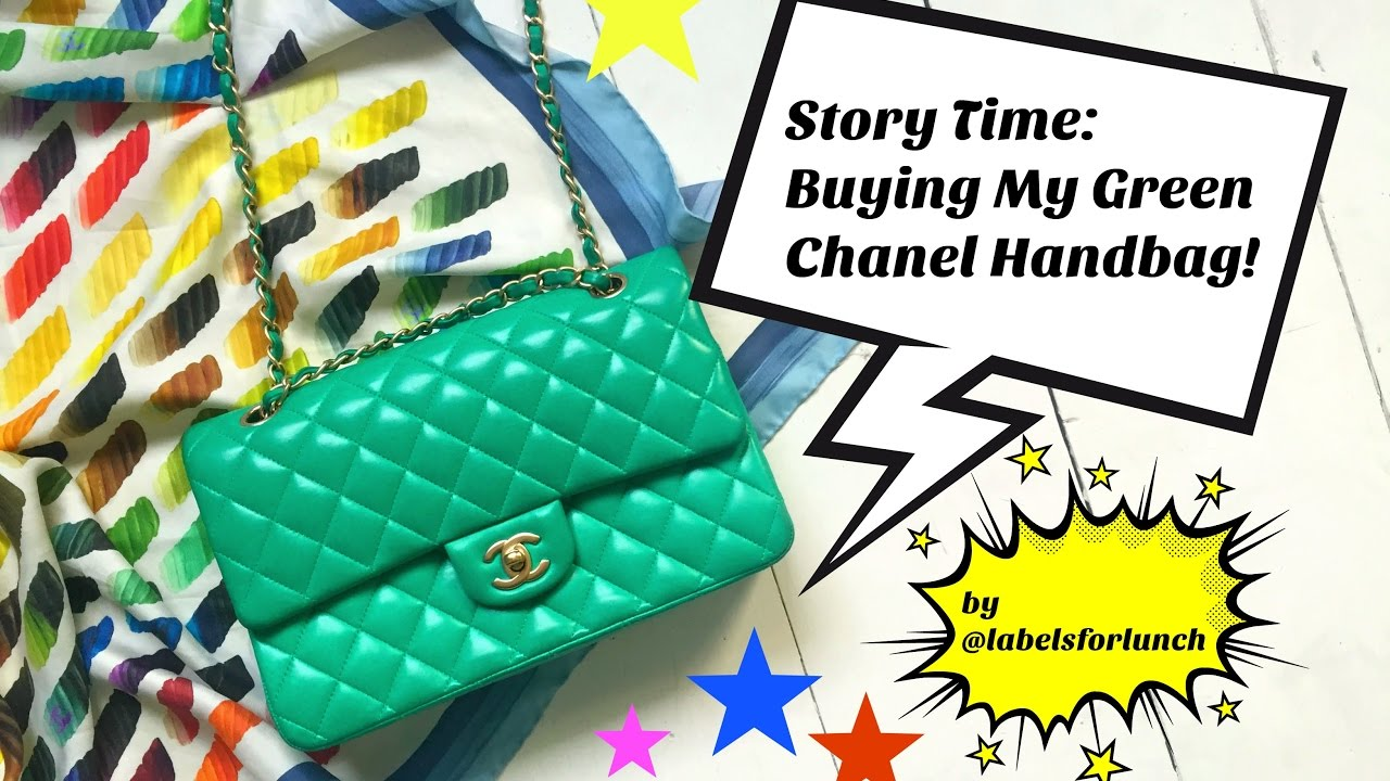 634d7a737c35 Chanel Handbag Classic Flap In Green! Review! Price! Story Time ...