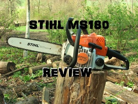 ccb84f4eb7a STIHL MS180 CHAINSAW REVIEW!! - YouTube