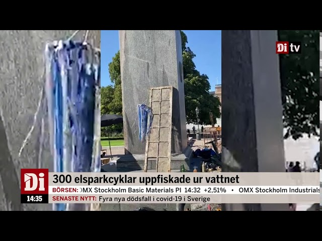 300 elsparkcyklar hittade i Stockholms ström