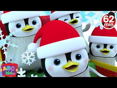Jingle Bells - Penguins | + More Nursery Rhymes & Kids Songs - ABCkidTV