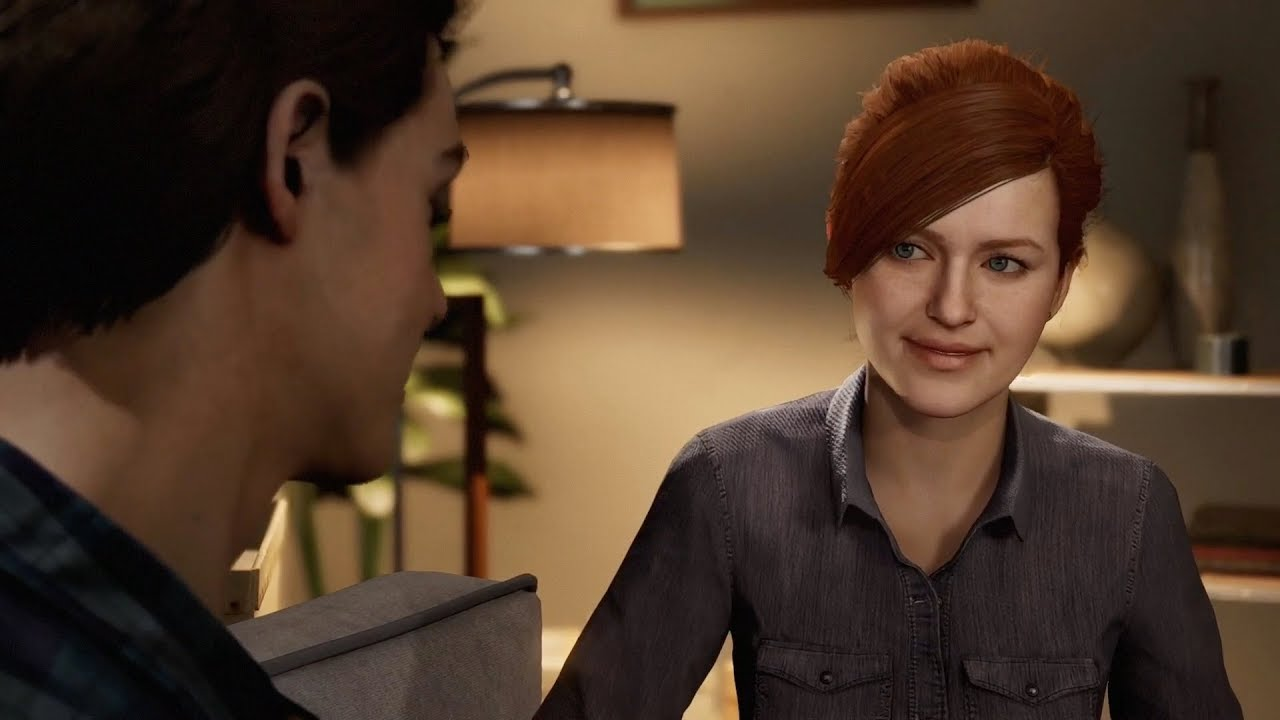 Spider-Man ps4 2018 Cut Scene - Cutest Peter Parker And Mary Jane Moment