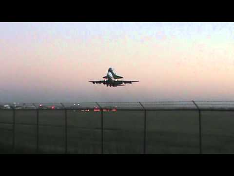Space Shuttle Taking Off at Ellington Field