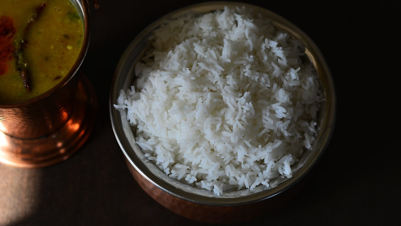 How To Boil Rice  The Right Way  Steam Rice Homemade  Rice Recipes @  Guru's Cooking
