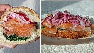 [1분완성] 연어 샌드위치 만들기 Make salmon…