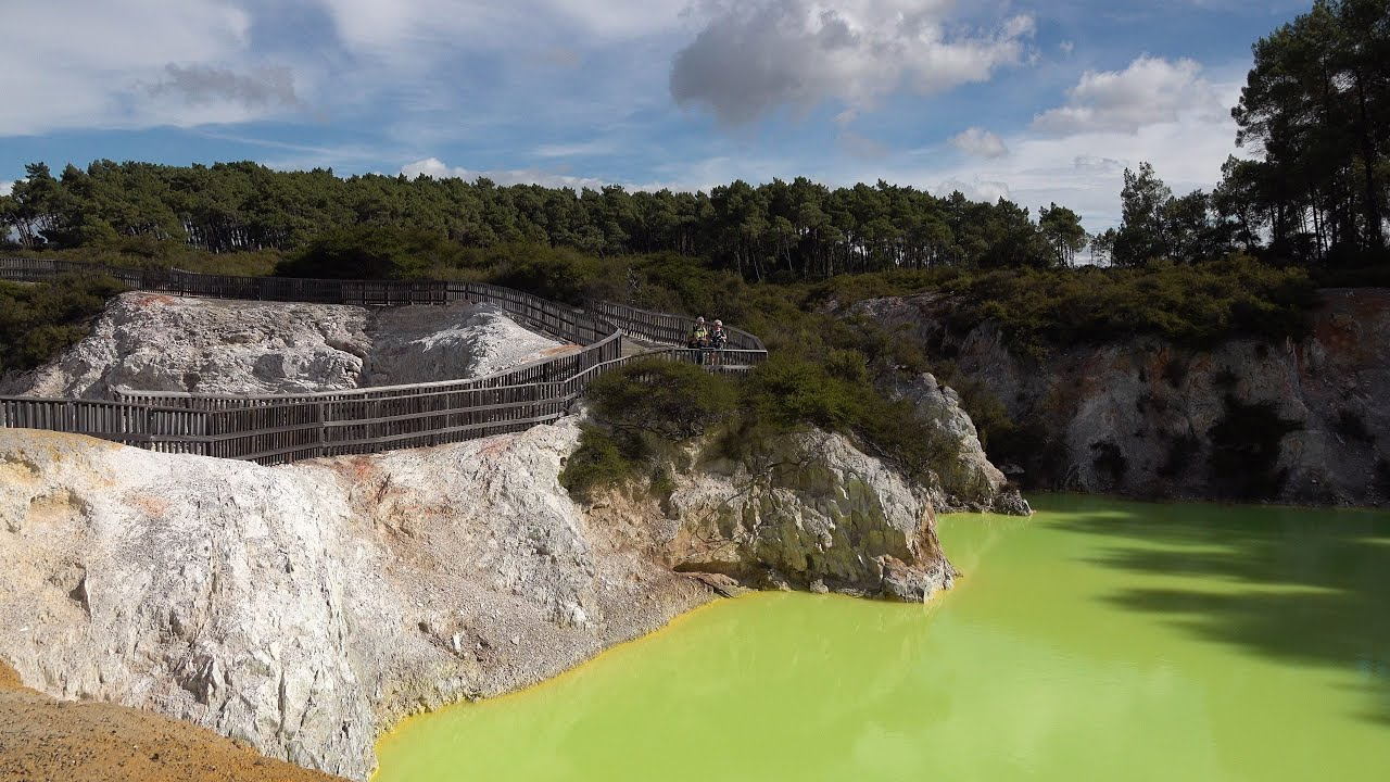 Rotorua Geothermal Area, New Zealand in 4K Ultra HD