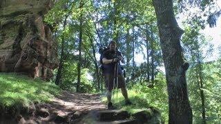 Mittelalterliche Burgruine Blumenstein - Burgen-Wanderung Pfälzer Wald Nordvogesen #12