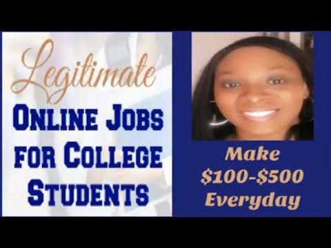 Legitimate Online Jobs For College Students Work From Home Jobs For College Students Make Money 2019