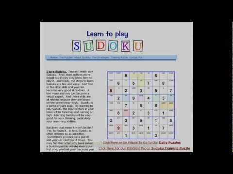 Free Online Sudoku Puzzles