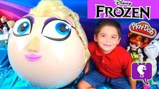 Mega GIANT Frozen Play-Doh Princess Surprise Egg by HobbyKidsTV
