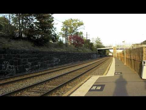 MBTA Commuter Rail Trains at Newtonville, MA