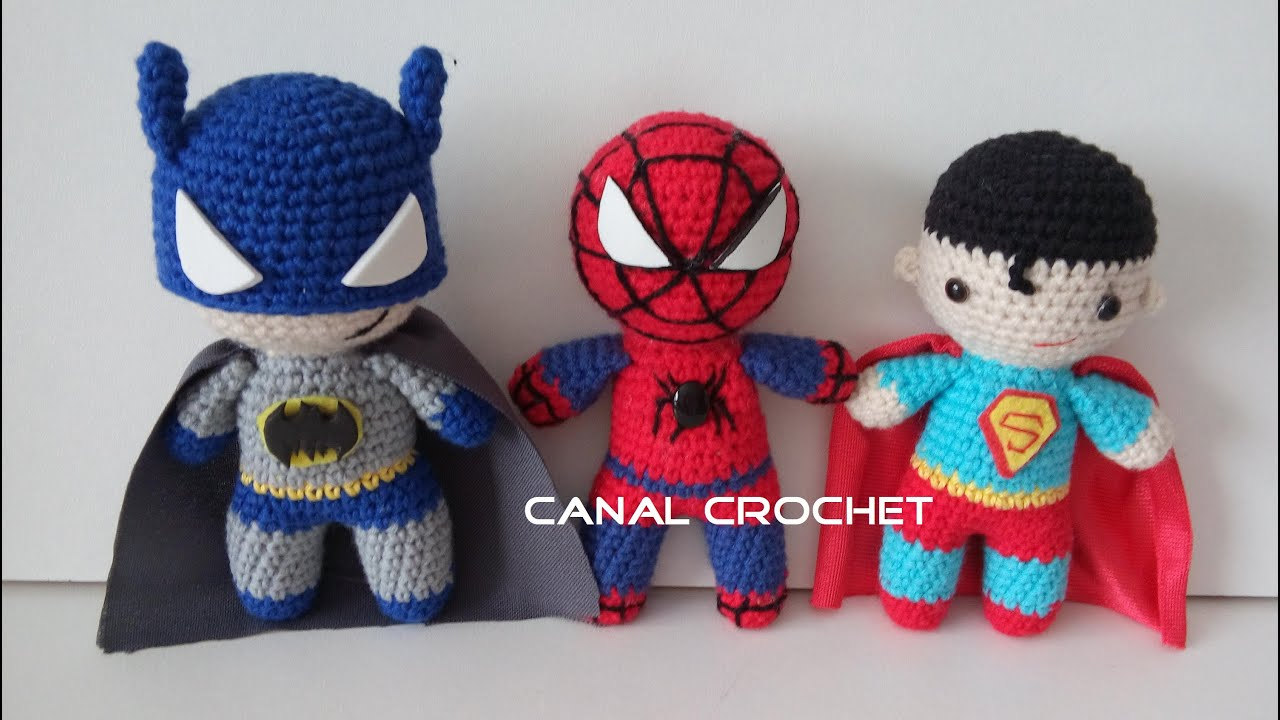 Amigurumi Facil Patron : Super heroes amigurumi tutorial youtube