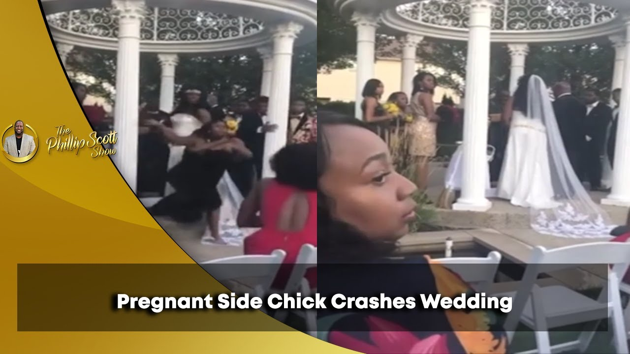 Pregnant Side Chick Crashes Wedding In Attempt To Stop Man From Marrying His Fiance