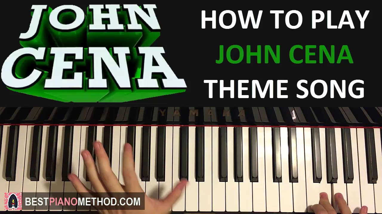 maxresdefault how to play john cena theme song the time is now (piano tutorial