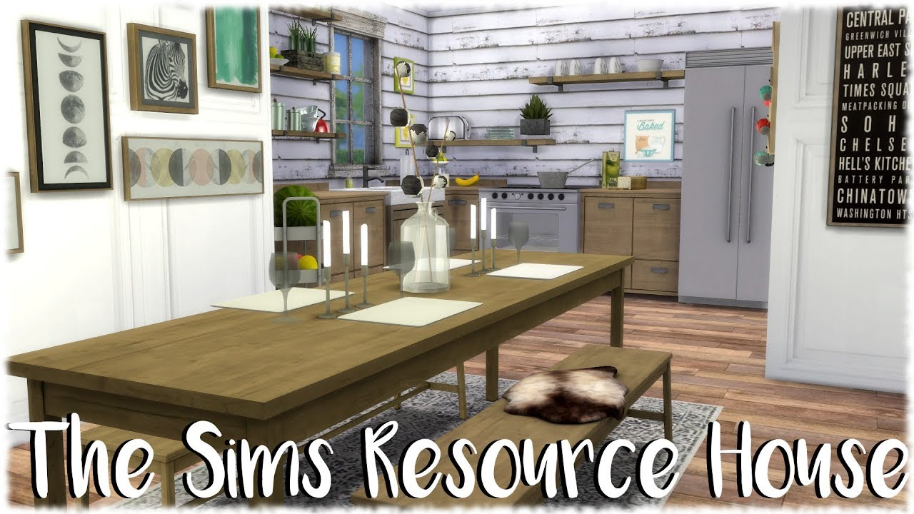 4 chair dining set personalized makeup chairs the sims 4: speed build // resource house + cc links - youtube