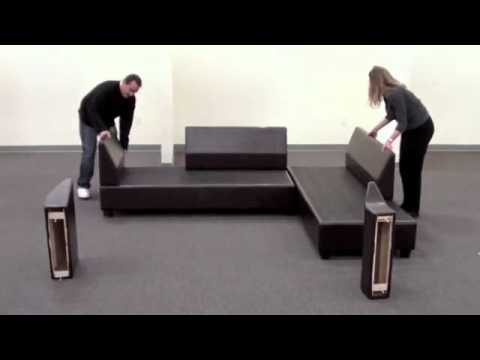 Sacramento Sectional Sofa Reversible Assembly Youtube