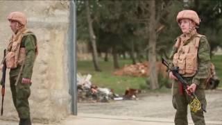 قوات روسية في قاعدة عسكرية بمنبج شمالي سوريا