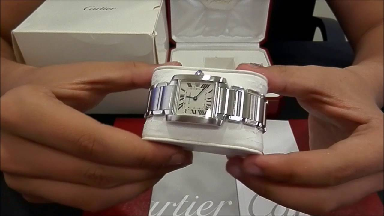 Cartier Tank Francaise Medium Quartz Watchesgmt Youtube