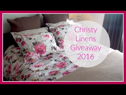 Christy Linens Giveaway 2016