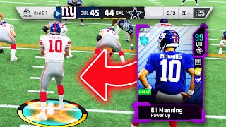 99 OVERALL SUPERBOWL ELI MANNING! MAGICAL COMEBACK! - Madden 20 Ultimate Team