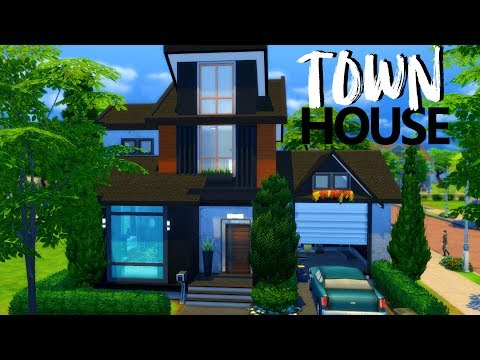 CONTEMPORARY TOWNHOUSE | Sims 4 House Building