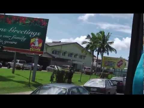 "Travelling around Suva, Fiji, on a tourist bus. Part of the Carnival Spirit ""Nausori Markets"" tour"